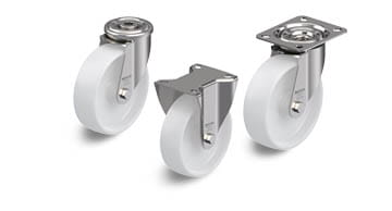 PO stainless steel wheels and castors