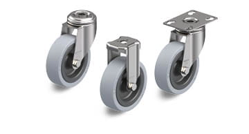 VPA stainless steel wheels and castors