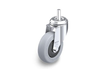 POES Swivel castors with threaded pin