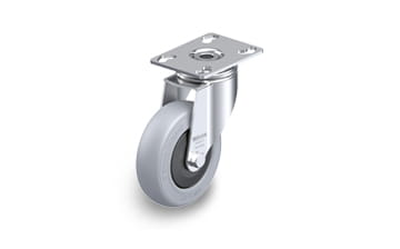 POES Swivel castors with plate