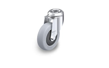 POES Swivel castors with bolt hole
