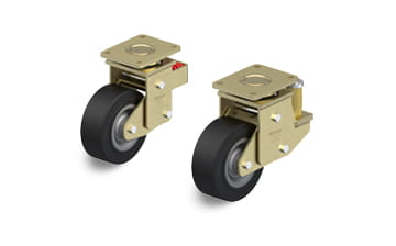 SE spring-loaded swivel castors with plate