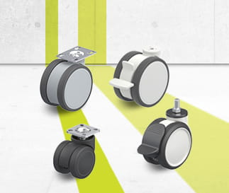 PUA & PATH twin synthetic castors